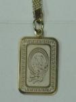 Брелок мусульманский с надписью  из священной книги КУРАН