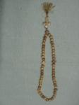 Чётки деревянные  абрикос  размер шарики 10 мм