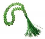 Четки из зеленого граненного хрусталя 33 бусины, диаметр 10 мм.