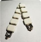 Перекидные четки из белого  прессованного агата