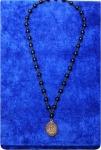 Четки-подвеска на шею из агата и с надпистю АЛЛАХ