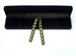 Перекидные четки металлические бронзового  цвета в футляре
