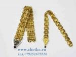 Четки перекидные металлическте золотого цвета два вида